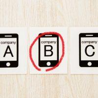 携帯電話会社の選択